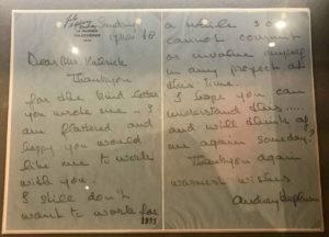 audrey hepburn lettera stanley kubrick cinematown.it