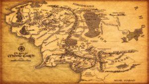 mappa rterra di mezzo Il Signore degli Anelli cinematown.it