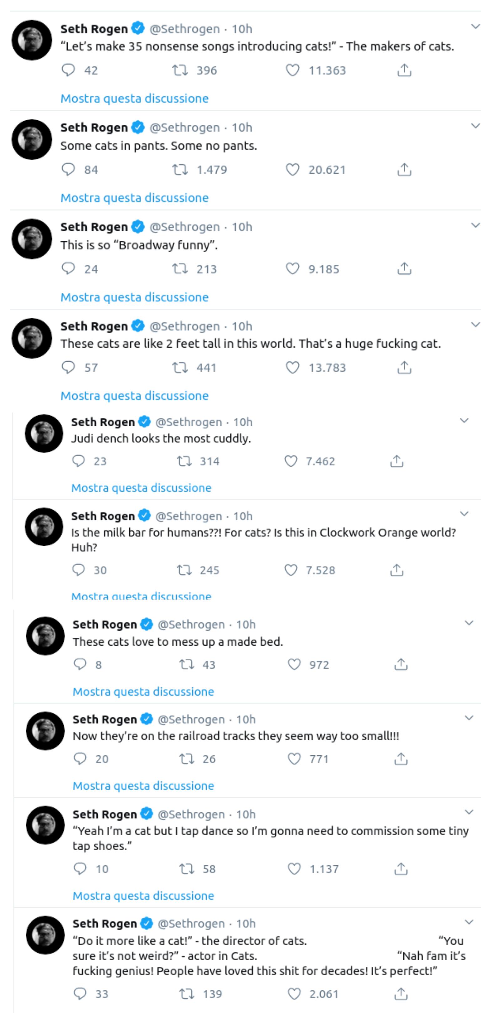 Seth Rogen, Twitter, cinematown.it